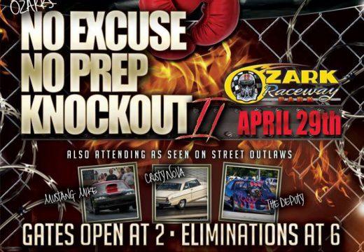 No Excuse No Prep Knockout II April 29th